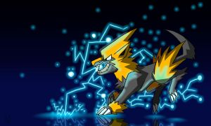 Shiny Manectric Wallpaper by Inkblot-Rabbit