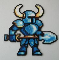 16 Bit Shovel Knight Perler Beads by kamikazekeeg