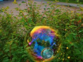 My hair colours in a bubble XD by goliatgirl00