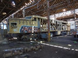 Abandoned ALCo PA-2 by SD40-2
