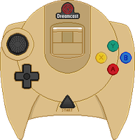 Dreamcast Controller [Gold] by BLUEamnesiac