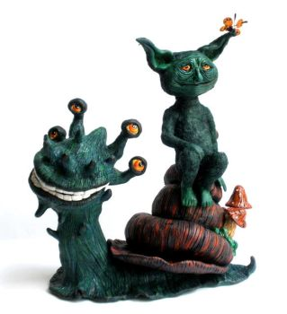Goblin and Snail by agalula