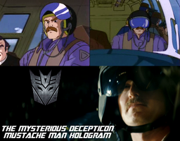 The Decepticon Mustache Man by Pencilshade