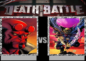 Deathbattle144: Hellboy vs Etrigan by Mr-Wolfman-Thomas