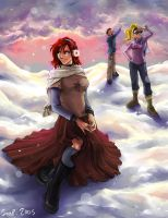Sunset Snowfall by Soap-Committee