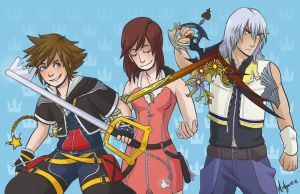 Kingdom Hearts Trio by midgaardian