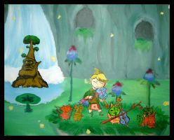 Wind Waker - Forest Haven by crashandburn1234