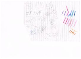 001( grade on last paper of notebook by kawai-eclair