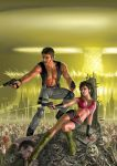 Resident Evil Chris and Claire Redfield by AlanGutierrezArt