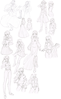 Lilia Ultimate Uniforms Reference (no colour) by Ameryliz