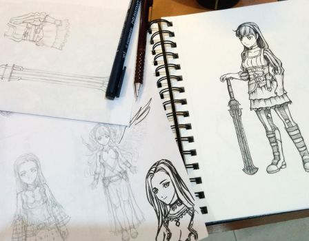 Tree of Savior Character Sketches by ArtmanceR