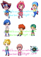 Digimon Chibi dump by Rainbowshi