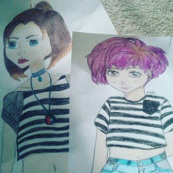 Comparison of 2 peoples by xMaddiemx