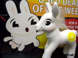 Gamestop bunny custom MLP by thatg33kgirl