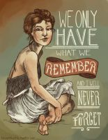 I Will Never Forget by blindthistle