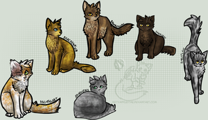 Warrior Cats Group 2 by Nifty-senpai