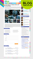 Premium Magazine Blog Template Inner Page PSD by cssauthor