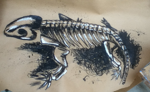 Indian Ink Skeleton by FelineMyth