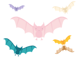 Gift: Rainbow Bats by apparate