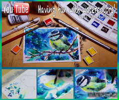 fun with water colors, real time video tutorial by mangakasan
