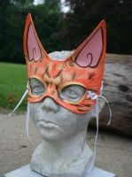 Orange Cat Mask by nondecaf