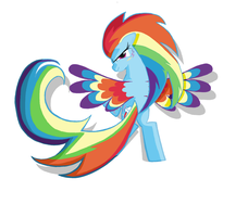 Rainbow Dash Rainbow_POWER  in MS-paint by sallycars