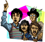 Beatles on the run by Alecobain26
