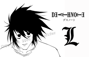 Death Note: L lineart by laurifer