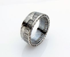 SILVER Italian 500 Lire Caravelle Coin Ring by TCSCustoms