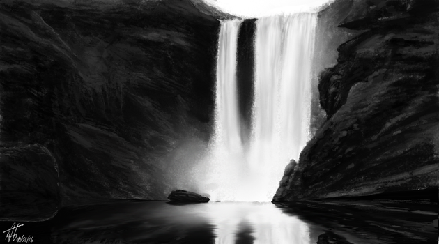 #101116 - Black Falls by Aster1os