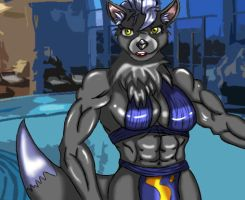 Irel, the swimming teacher by MagicBlades