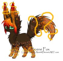 Scene Fox Adoptable ~ 5 [ON HOLD] by BiahAdopts