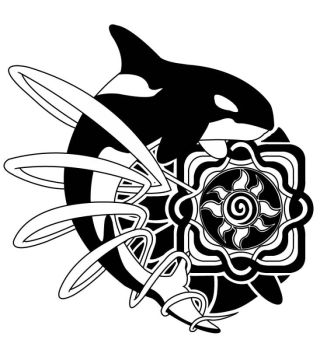 Orca Tattoo Design by diogenes
