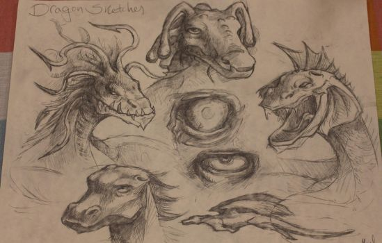 Late Night Sketches - Dragons by AlexJustOut
