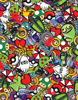 Gamer Fabric Design by labrattish