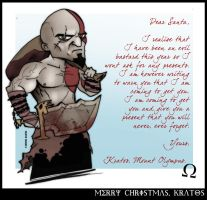 Merry Christmas, Kratos by CitizenWolfie