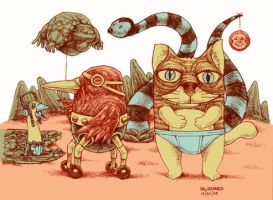 badcat and friends2 by bawayan
