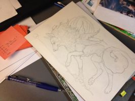 WiP - Okami by awaicu