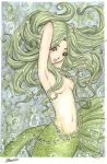 Green mermaid by landipan