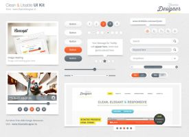 Freebies - Clean and Usable UI Kit by sunilbjoshi