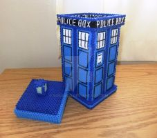 3D Perler Tardis Desk Accessory by Soranoo