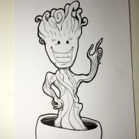Inktober 2014 Groot by NoriToy