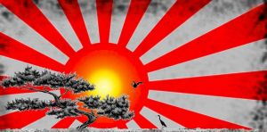 Rising Sun with Bonsai by geoschiss