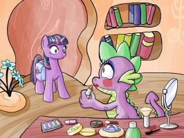 EqD ATG II - Day 12 - Pony Getting a Makeover by muffinshire