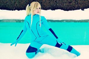 Samus in the Snow by CosplayButterfly