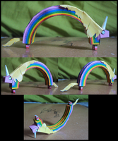 Lady Rainicorn Final Papercraft Muestra by Niggayo