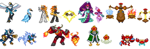 Megaman Starforce Boss Sprites by ScytheSorceressAvi