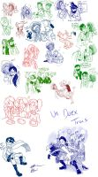 Un Duex Trois and other Doodles by BabyPhat268