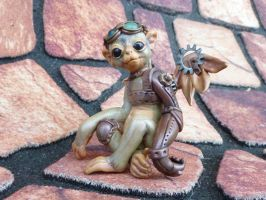 Steampunk Flying Monkey by MysticReflections