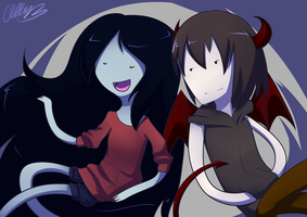 AT: Marcy and Vin by Miss-Sheepy